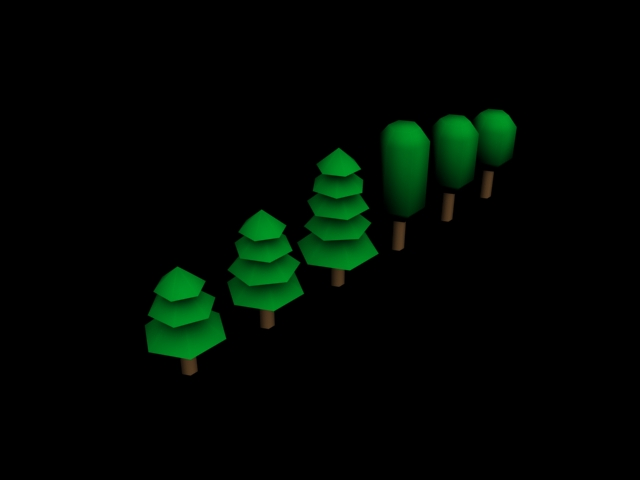 Tree low poly pack 1