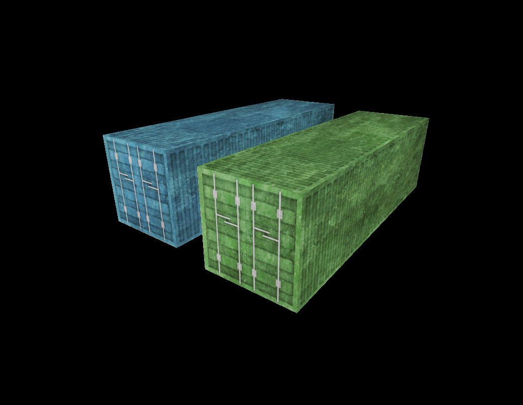 Container low poly 1