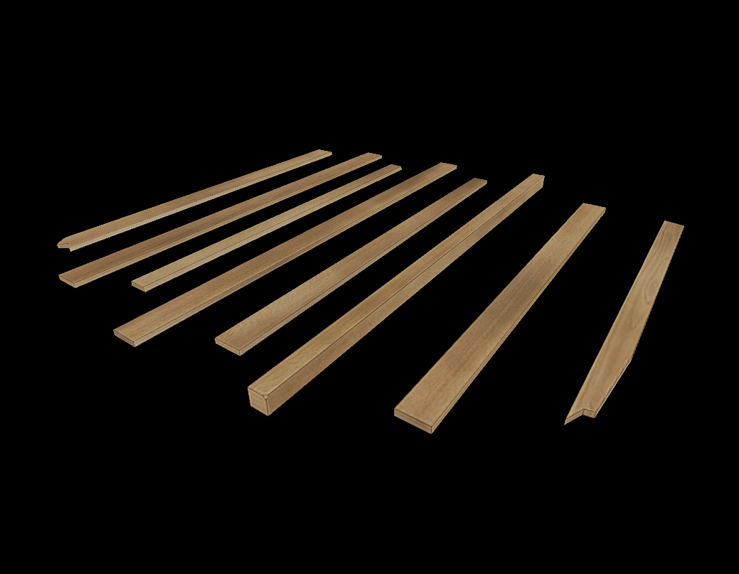 different boards low poly