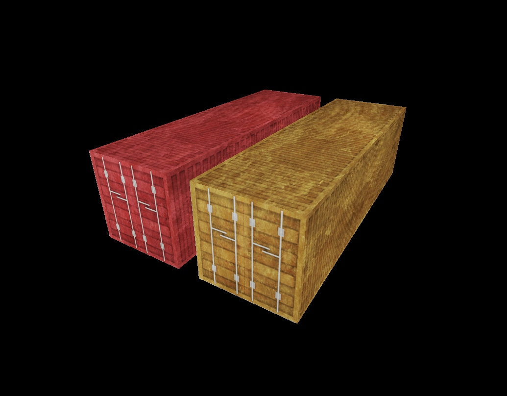 Container low poly 2