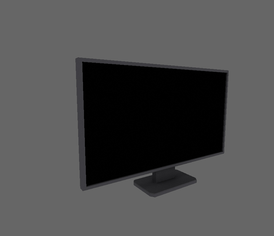 Monitor low poly 1