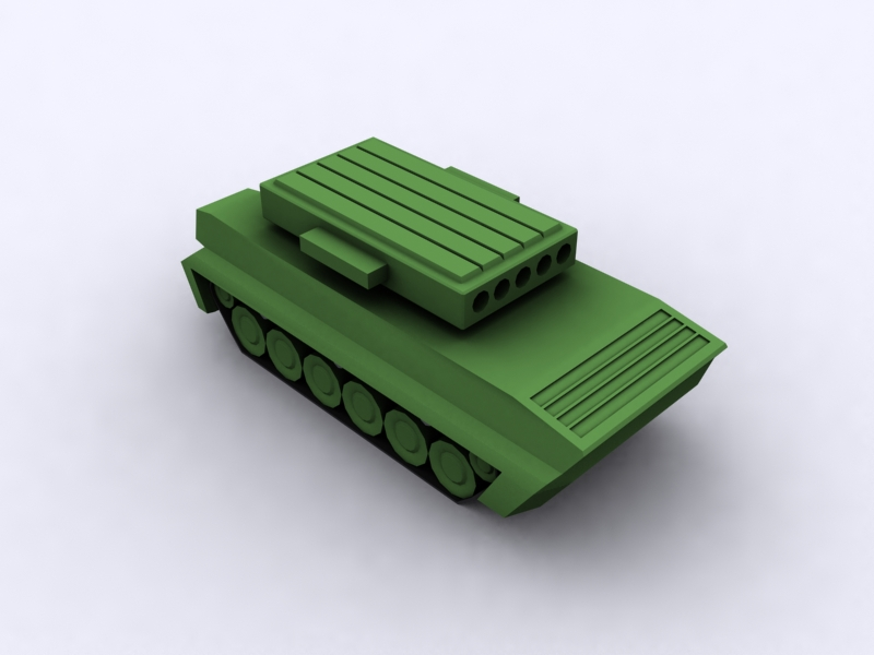 Armored vehicle for tower defender 9