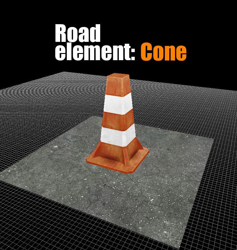 Road elements: Cone