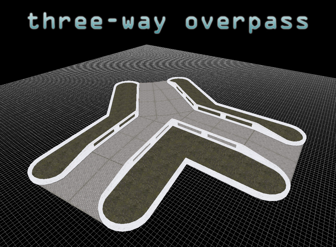 Three-way overpass