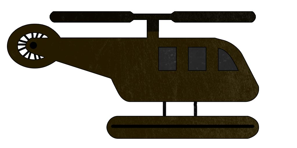 Brown Abandoned Helicopter Sprite