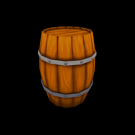 Hand Painted Medieval Barrel