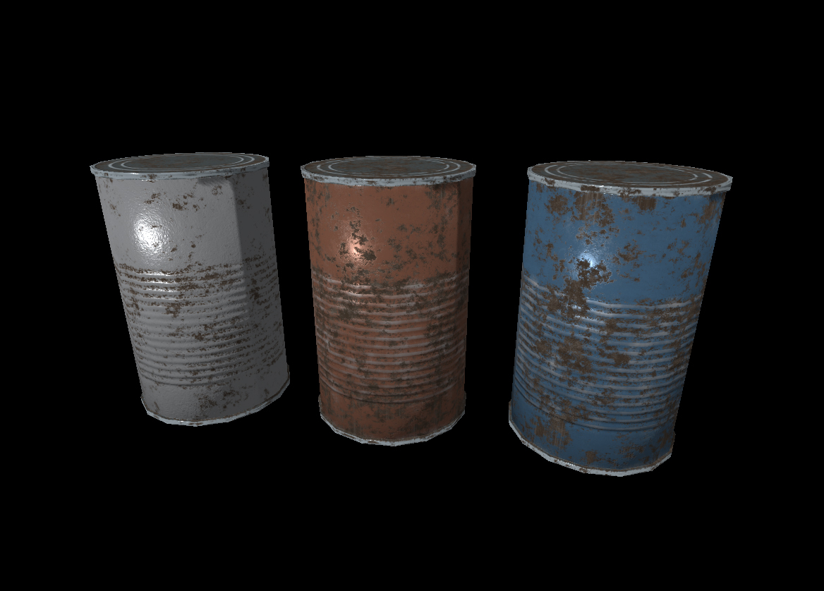 Rusty Old Food Cans