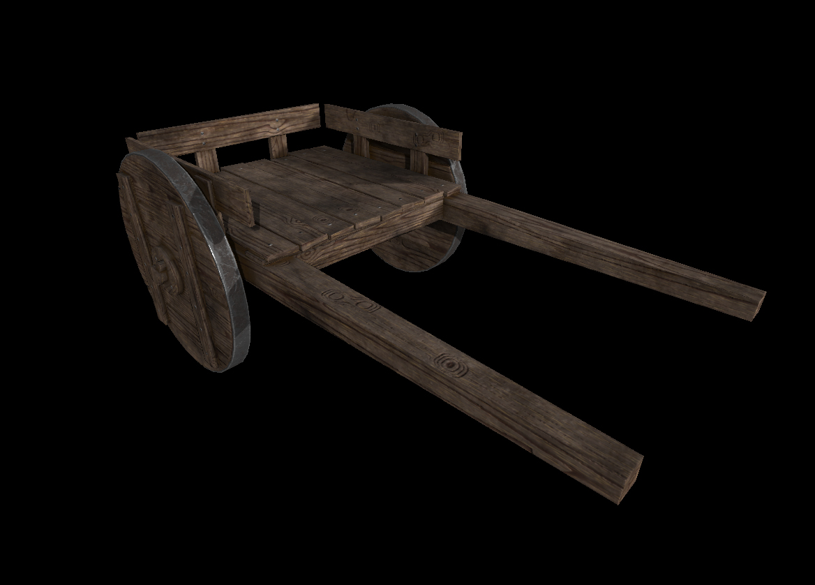 Medieval Wooden Cart