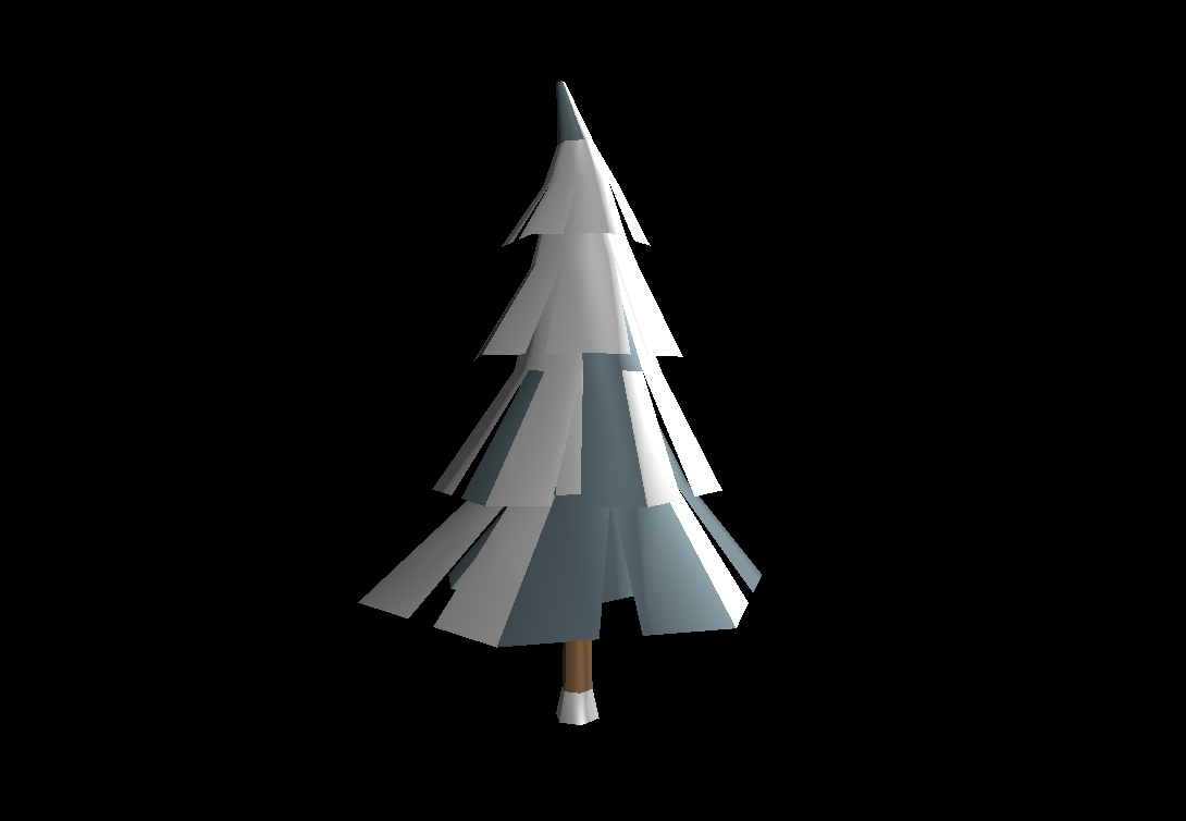 Low Poly Winter Tree 1