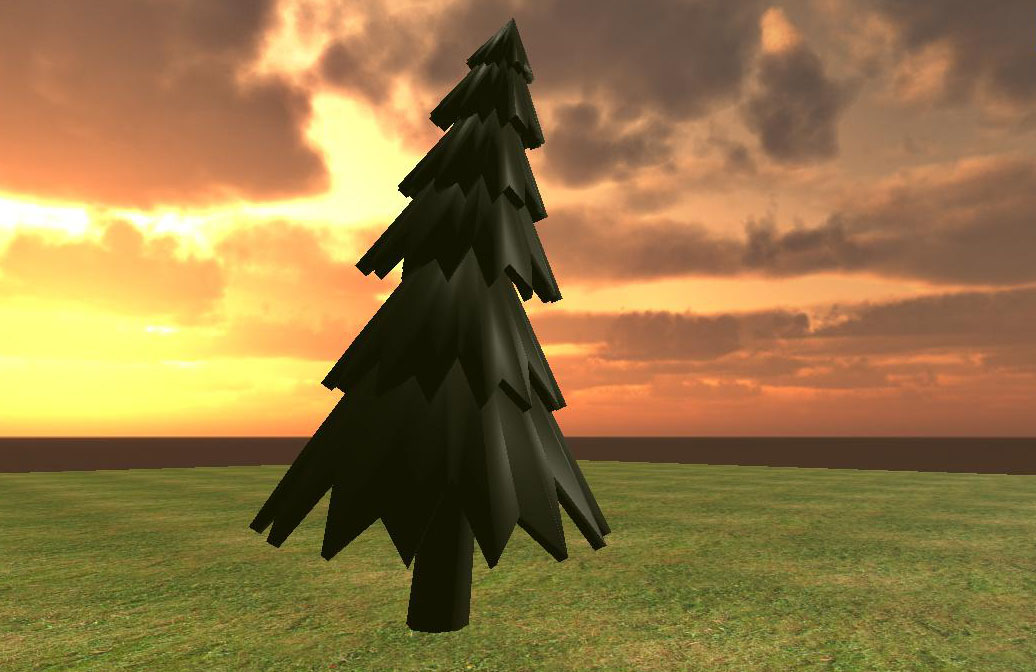 Dark tree Low poly