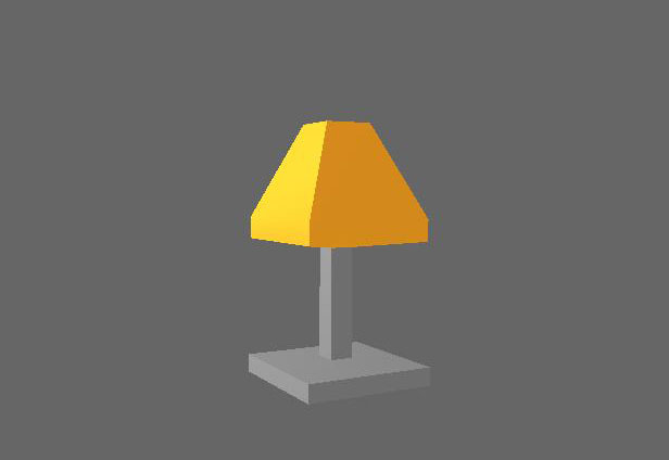 Gray Lamp Low Poly