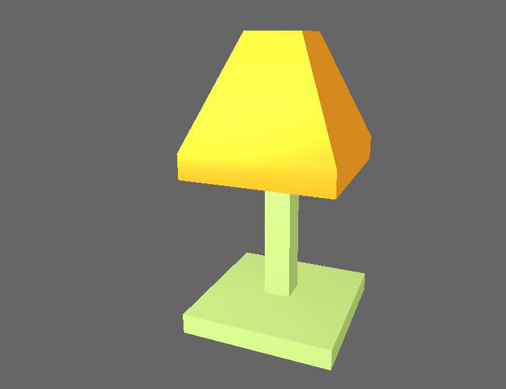 Green Lamp Low Poly