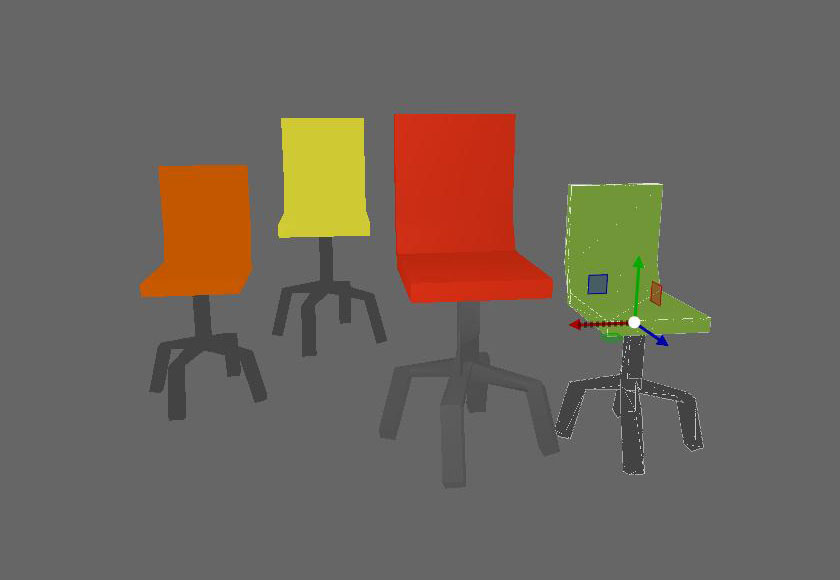 Chair pack low poly
