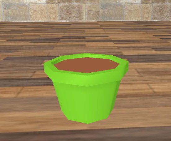 Green Flowerpot Low Poly