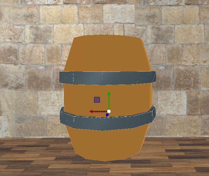 Wood Barrel Low Poly