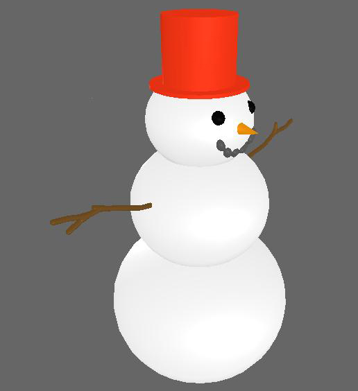 Red Snowman
