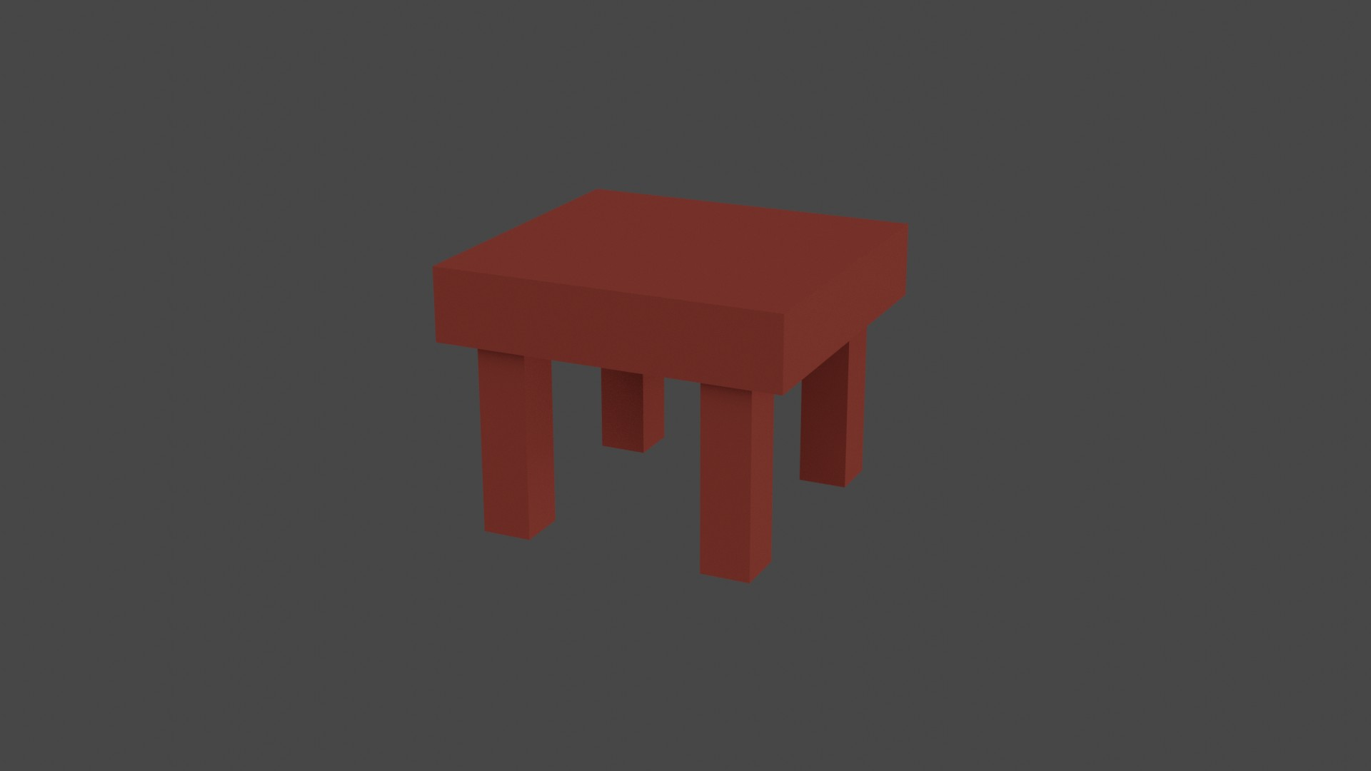 Low Poly Red Furniture 1