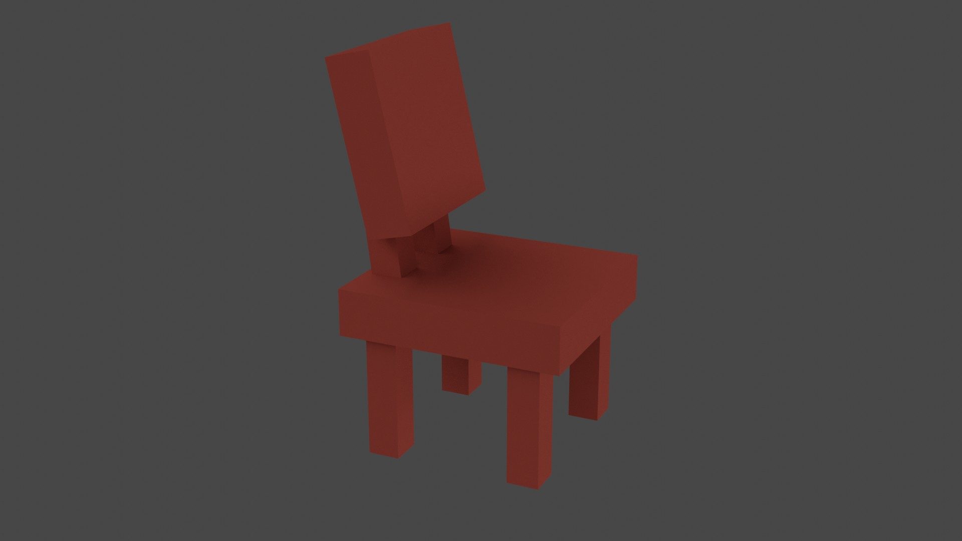 Low Poly Red Furniture 2