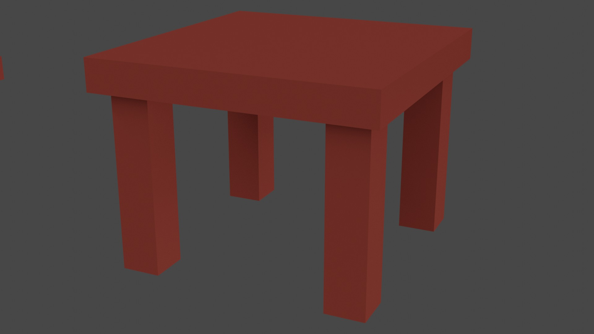 Low Poly Red Furniture 3