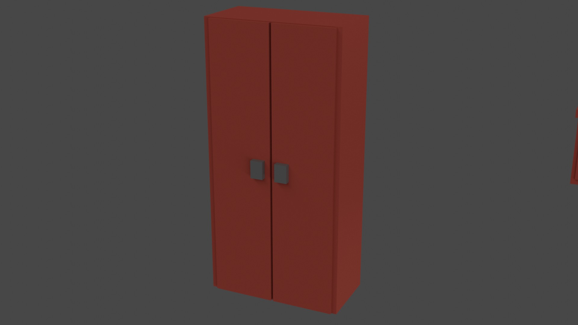 Low Poly Red Furniture 4
