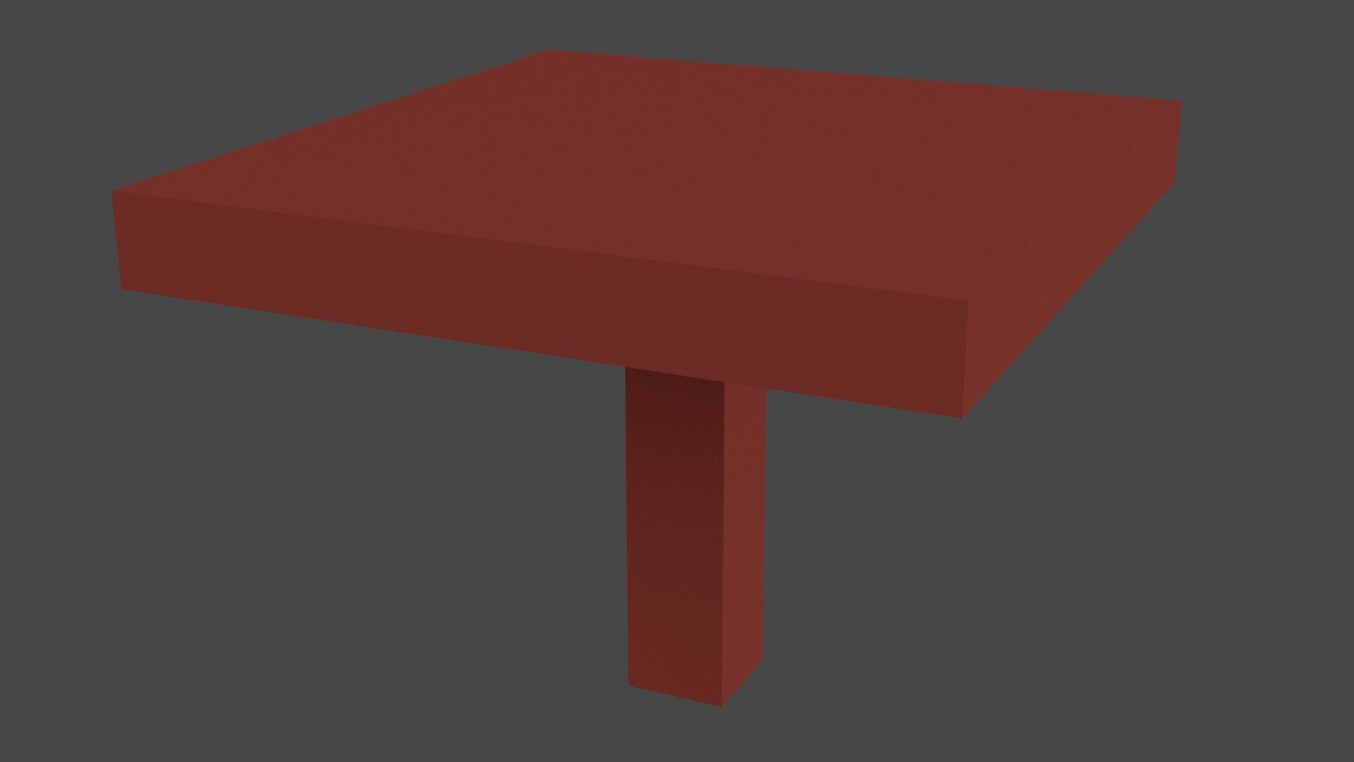 Low Poly Red Furniture 6