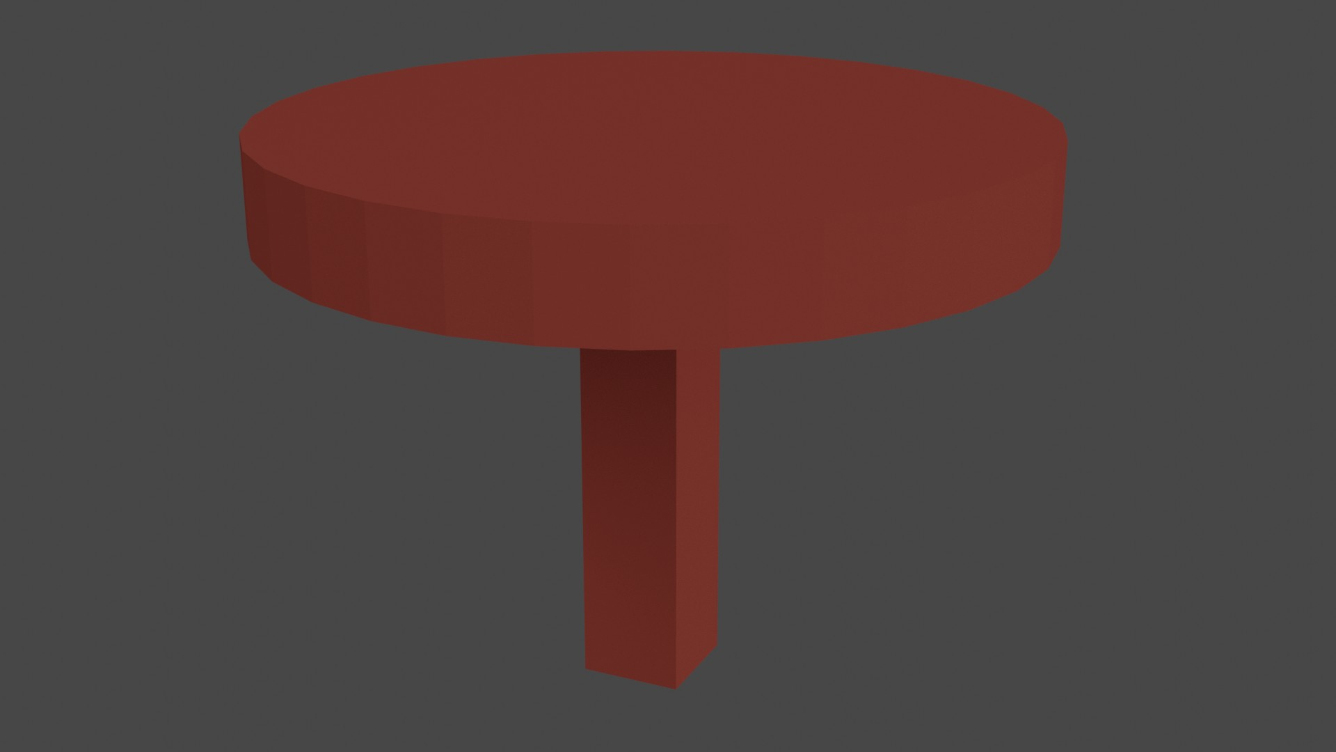 Low Poly Red Furniture 7