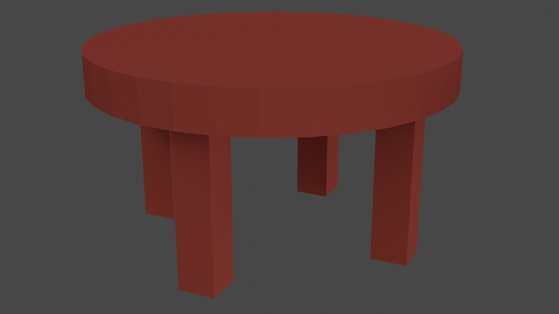 Low Poly Red Furniture 8