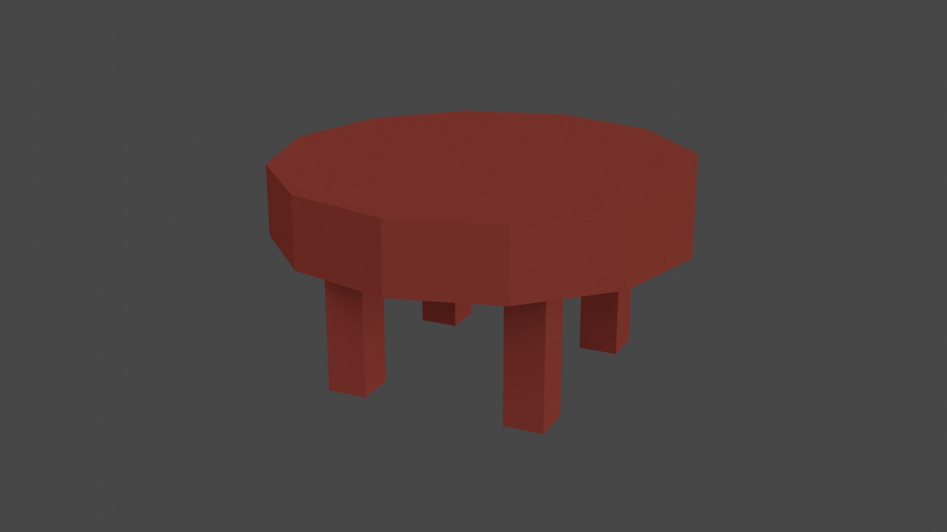 Low Poly Red Furniture 9