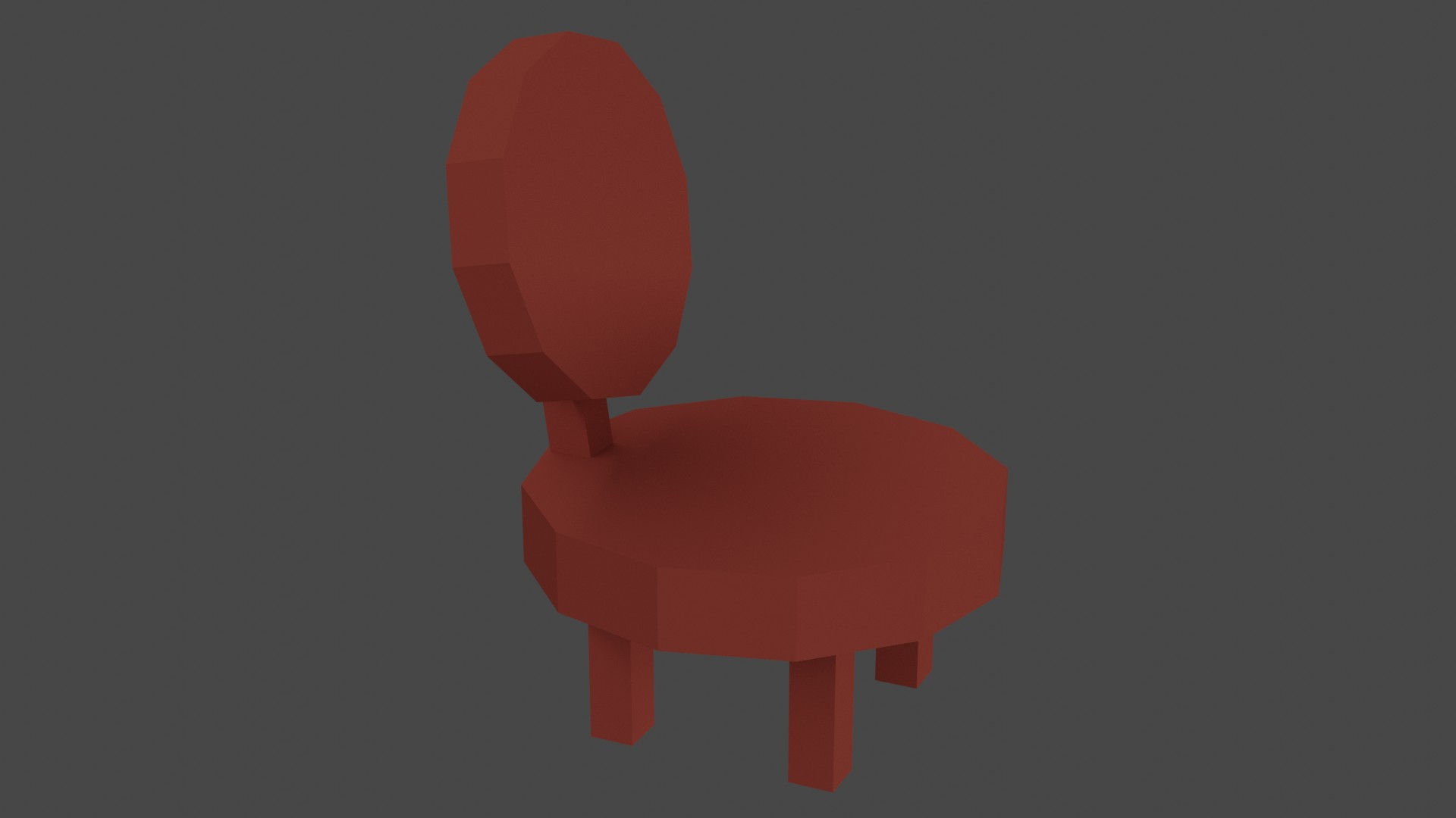 Low Poly Red Furniture 10