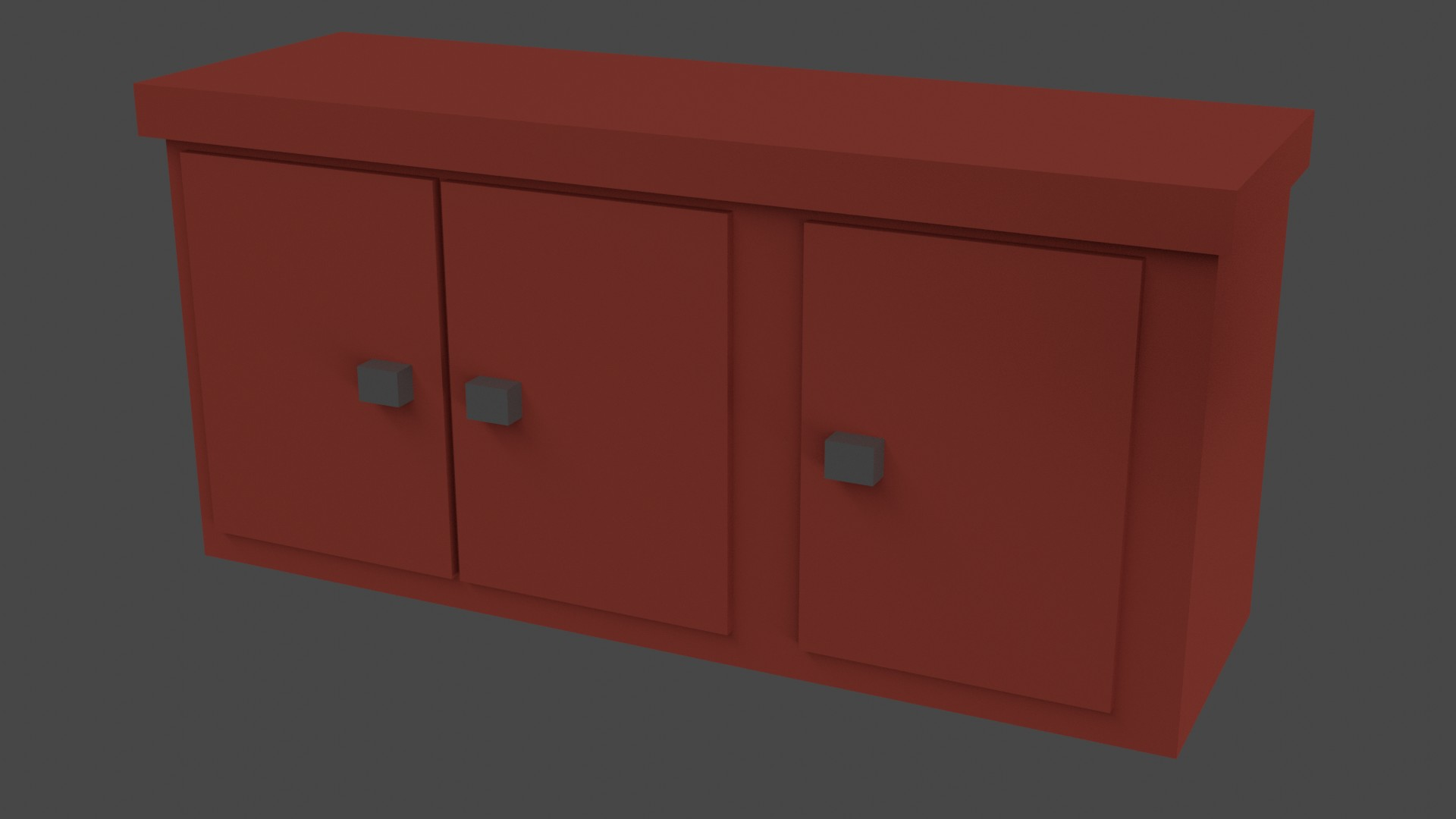 Low Poly Red Furniture 11