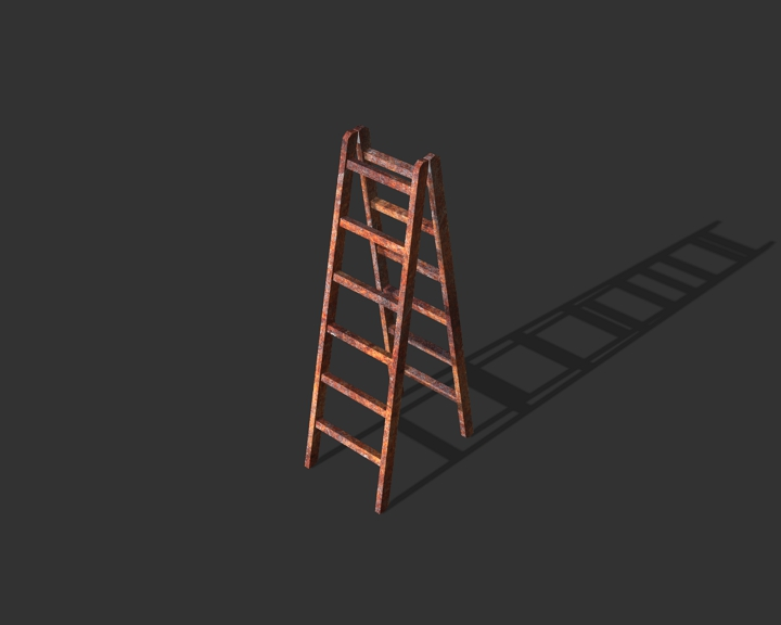 old metal step ladder