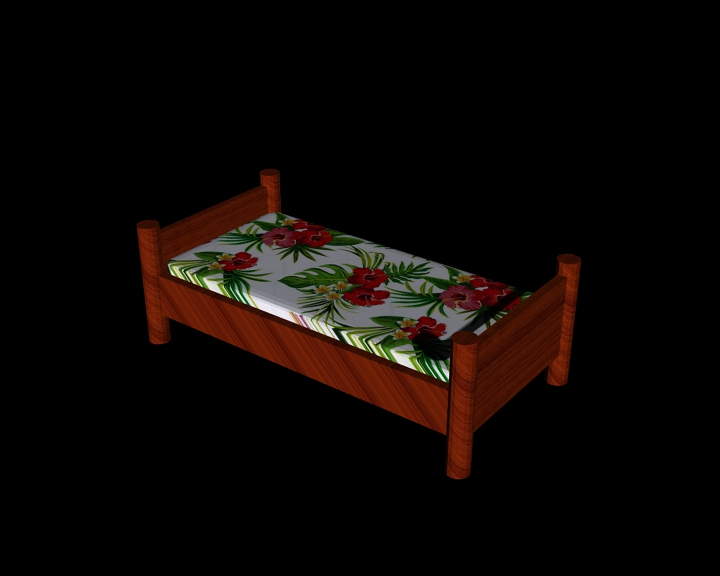 single wooden bed