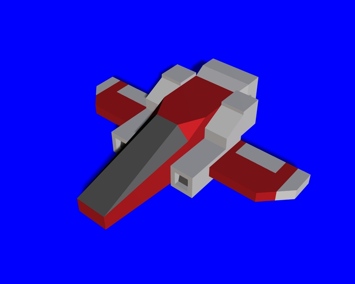 space Craft1 low-poly model