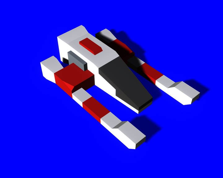 space Craft 2 low-poly model