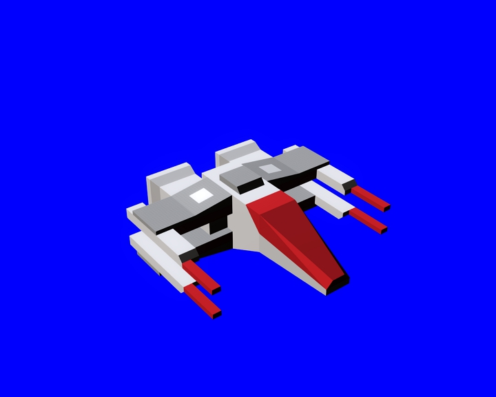 space Craft 4 low-poly model