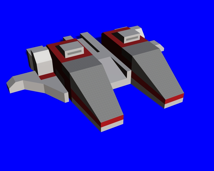 space Craft 6 low-poly model