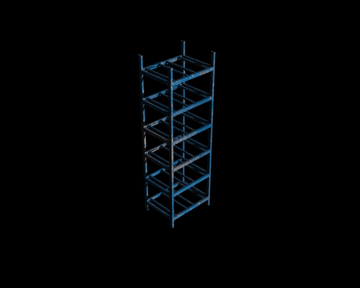 small rack (blue)