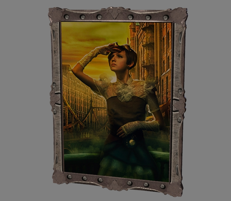 the painting is made in steampunk style 2