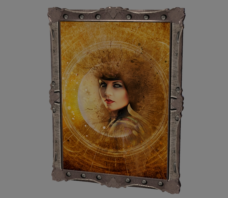 the painting is made in steampunk style 5