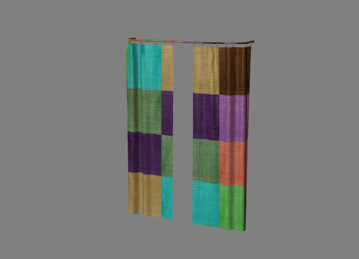 curtain with colorful fabric 3
