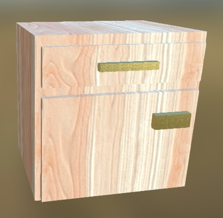 Small Cabinet LowPoly 3 (White Wood)