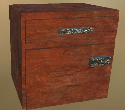 Small Cabinet LowPoly 6 (Old Rust Metall)