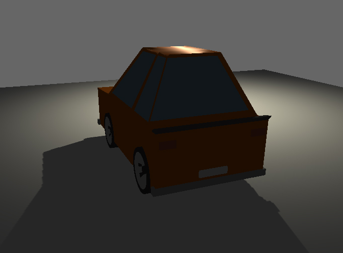 Low poly sport car