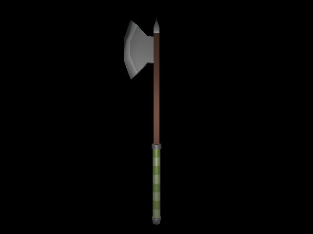 Low Poly Axe - 3